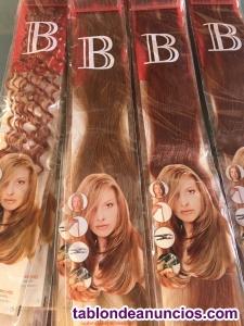 Extensiones de cabello natural queratina diferentes largos y