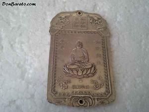 Extraordinario lingote de plata tibetana budista c