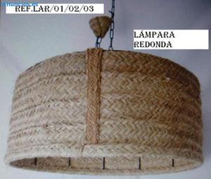 LáMparas De Esparto Con ArmazóN De Forja