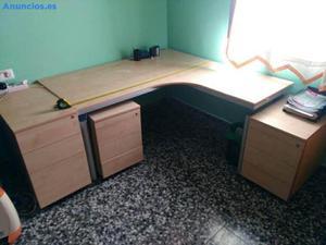 Mesa De Estudio Con 3 Cajoneras