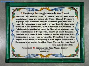 Placa De CeráMica Conmemorativa 80x60 Cm
