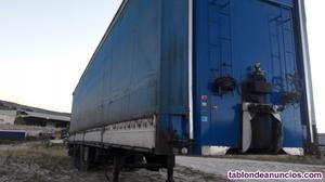 Plataforma de trailer de 3 ejes