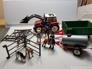 Playmobil lote Granjero y familia