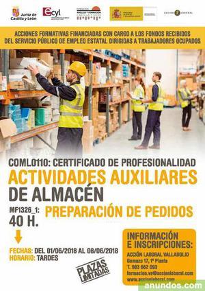 Preparación de pedidos - Valladolid Ciudad