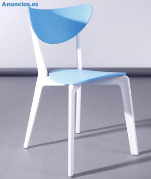 Silla De DiseñO, Polipropileno, Linda, Color Azul