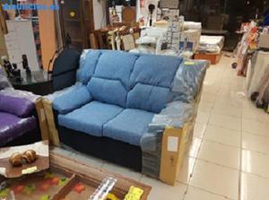 Sofa Azul Dos Plazas Nuevo