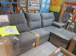 Sofa Chaise Longue Nuevo Acabado En Microfibra