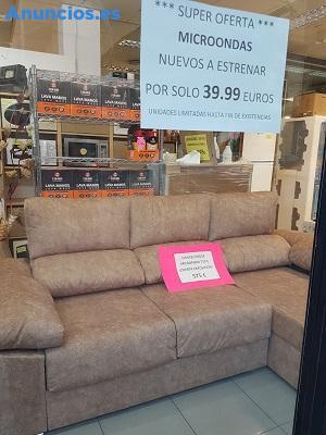 Sofa Chaise Longue Nuevo En Microfibra