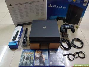 Sony playstation 4 pro, 1tb console with 2 controllers, 1