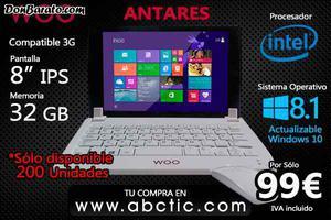 Tablet pc woo w quad core 8, ips 32gb