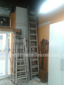 Vendo escaleras de madera de una hoja extensibles