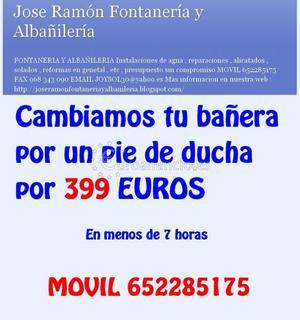 CAMBIO DE BAÑERA POR PIE DE DUCHA 399 EUROS Murcia