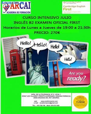 CURSO INTENSIVO JULIO  INGLES B2 (FIRST)