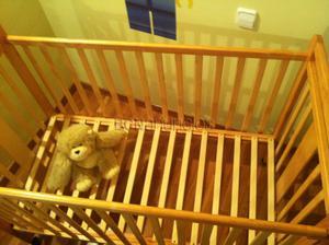 Cuna madera tres niveles
