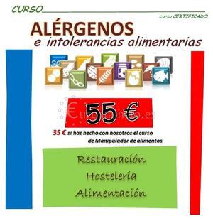 Curso de ALERGENOS en Sanlucar de Barrameda