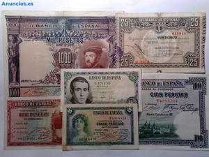 Lote De 6 Billetes  EspañA