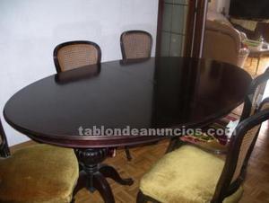 Mesa grande de comedor con 6 sillas