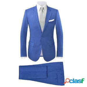 Traje de chaqueta de hombre 2 piezas azul real talla 48
