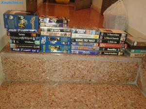 VENDO LOTE DE 37 CINTAS VIDEO VHS Y REGALO VIDEO MARCA