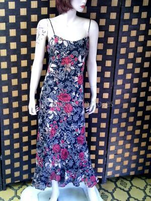 Vestido de fiesta lago estampado flores bien de precio