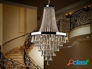 Wellindal Lámpara 22 luces Palace Metal y Cristal