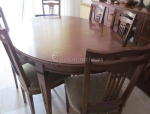 Mesa comedor ovalada y extensible 6 sillas | Posot Class