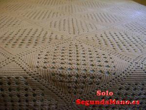 Colcha tejida a ganchillo 100% algodón