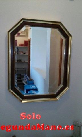 Espejo dorado biselado
