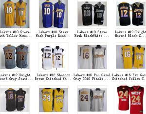 La mayoría toma 5-7 días, la camiseta Lakers entregado a