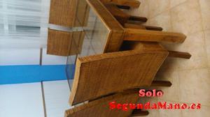 Mesa + 4 sillas ratan