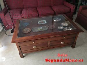 Mesa baja de madera maciza