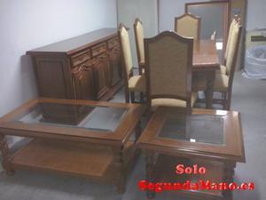 Mesa de salon seis sillas y aparador