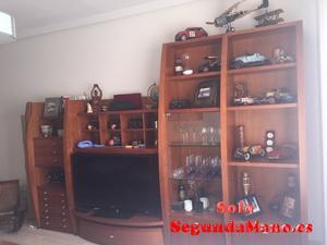 Mueble de salon macizo de cerezo y mesa