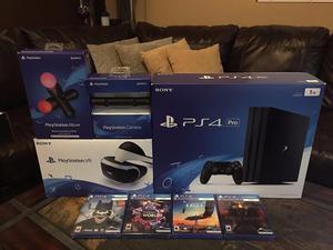 PlayStation VR / PS4 Pro 1TB console con 4 mas juegos €150
