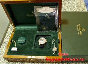Reloj caballero de oro suizo, sin usar con su caja y papeles