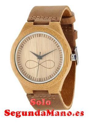 Reloj de pulsera de madera de bambu