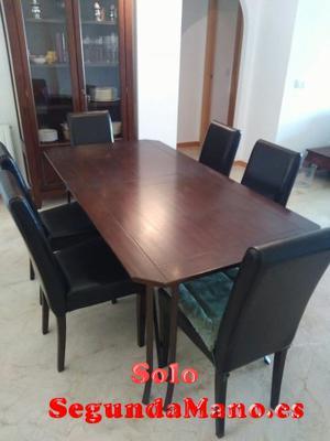 Se vende mesa de comedor + 6 sillas