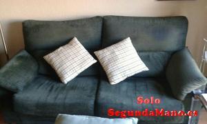 Se vende sofá de color verde