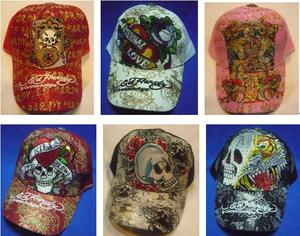 Varios modelos de el sombrero de moda Ed Hardy - Cádiz