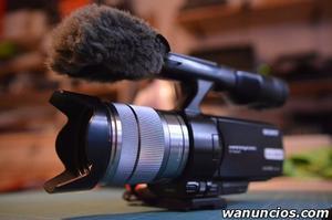 Videocámara Sony NEX-VG10 HD  en perfecto estado -