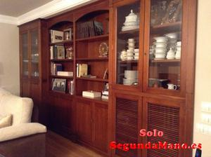 mueble salon de cerezo macizo de 4,5 metros de ancho