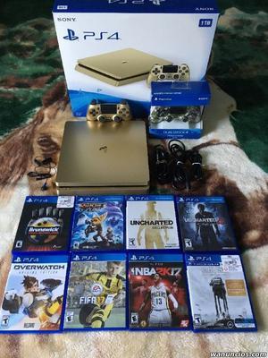 venta Sony PS4 1TB ORO console con 8 juegos €150euros -