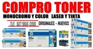COMPRO TONER Y CARTUCHOS DE TINTA ORIGINALES