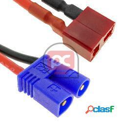 Cable t plug hembra a ec3 macho de 10cm 14awg carga y fuente