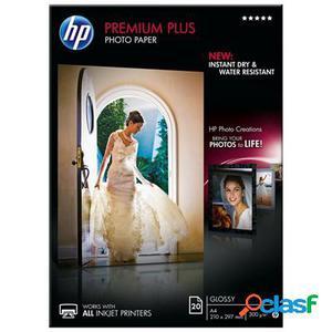 Hp papel Photo Brillo A4 (20 hojas), original de la marca Hp