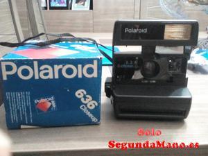 Máquina de fotos Polaroid 636 closeup