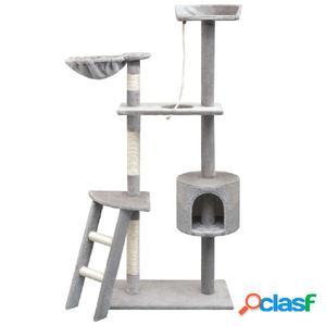 Rascador para gatos con poste rascador de sisal 150 cm gris