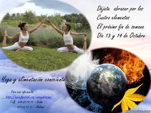 Yoga y alimentacion consciente - Barcelona