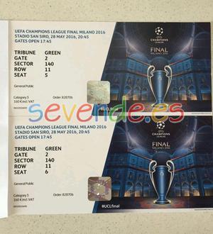 2 Entradas CAT 3 UEFA CHAMPIONS LEAGUE Final