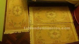 Alfombras de lana para dormitorio de color amarillo con